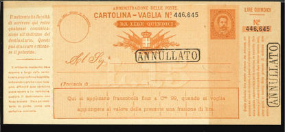 Immagine di 12B - CARTOLINE VAGLIA -  V12 B