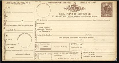Immagine di 1 - BOLLETTINI PACCHI POSTALI -  P1