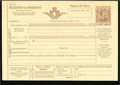 Immagine di 18 - BOLLETTINI PACCHI POSTALI -  P18
