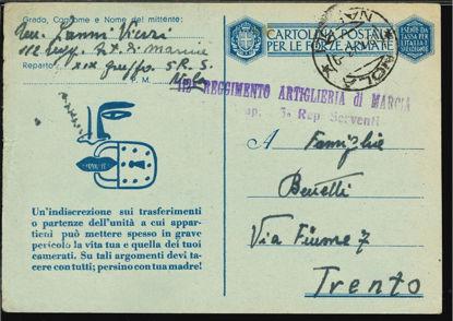Immagine di 49 - CARTOLINE FRANCHIGIA MILITARE -  F49