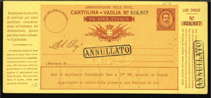 Immagine di 6B - CARTOLINE VAGLIA -  V6 B