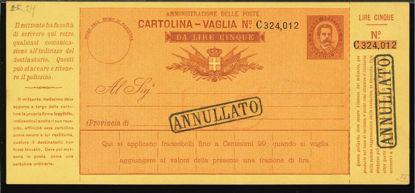 Immagine di 6C - CARTOLINE VAGLIA -  V6 C