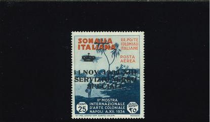 Immagine di 2 - ARTE COLONIALE 25 CENT SOVRASTAMPATO CERT