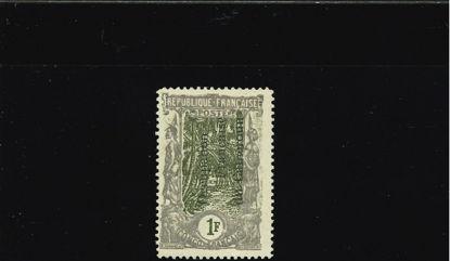 Immagine di 65a - CONGO  1f. VARIETA'  SOVRASTAMPA VERTICALE
