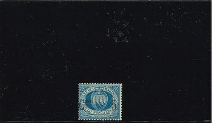 Immagine di 8 - STEMMA  5 c. su 10 azzurro VAL. 1