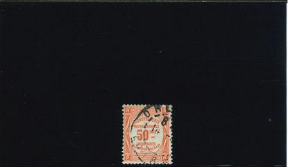 Immagine di 47 - VALORE IN OVALE 50c.ROSSO
