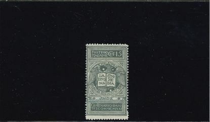 Immagine di 116A - DANTE ALIGHIERI NON EMESSO DEC. 0.15 CENTRATO VAL. 1