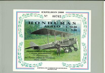 Immagine di 62 - 75° ANNIVERS. POSTA AEREA HONDURAS
