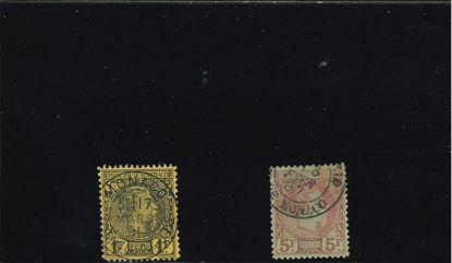 Immagine di 9 - CARLO III 1 F+ 5 F falsi dell'epoca obliterati