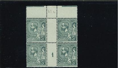 Immagine di 47a - ALBERTO I 5 f coppia interspazio e numero