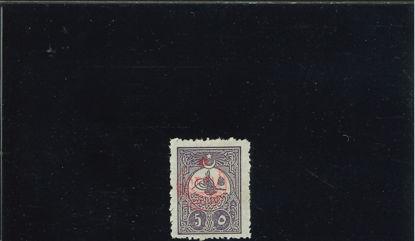 Immagine di 283 - FRANCOB. DEL 1908 SOVR. 5 PA. VIOLETTO BR.