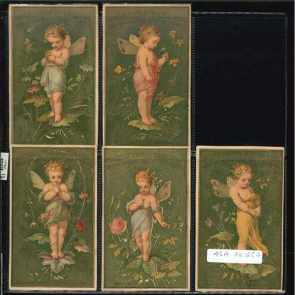 Immagine di 51 - L'ORACOLO DEI FIORI 1° (oro) 5 fig.scritta-FRANCESE